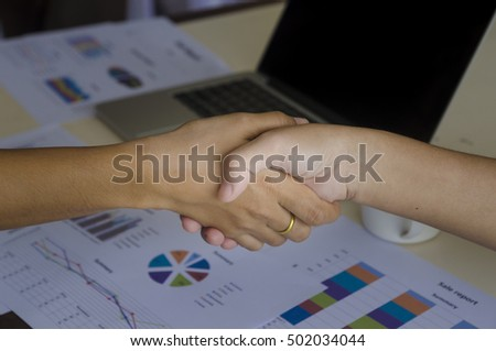 Shake hands with business background