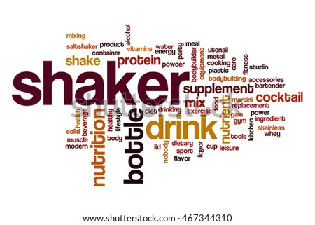 Shaker word cloud concept