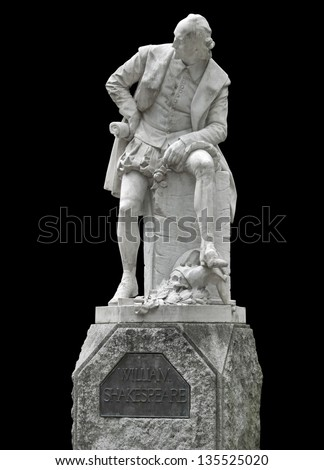 Shakespeare memorial in Weimar, a town in Thuringia (Germany) - stock photo