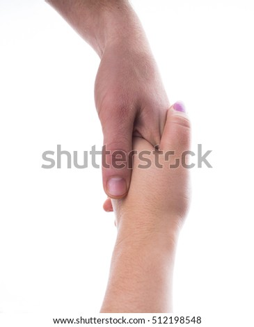 shaking hands on a white background.