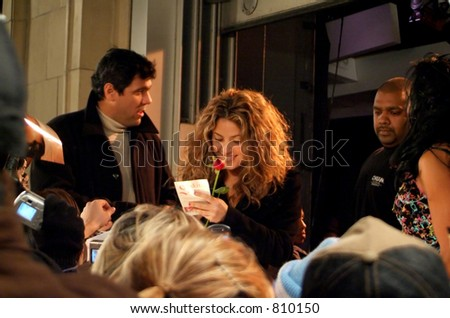 SHAKIRA in Toronto, at MUCH MUSIC signing autographs. (Dec. 13, 2005)