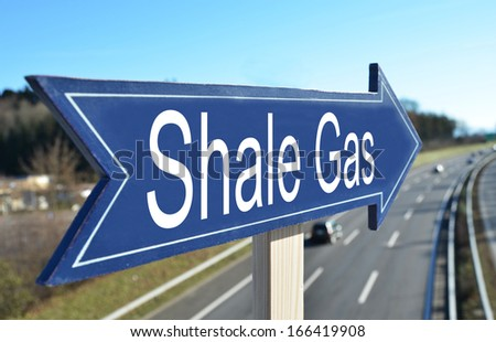 SHALE GAS sign - stock photo