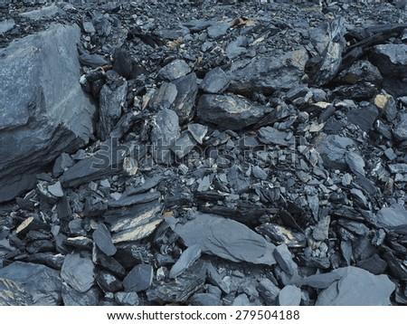 Shale rock. - stock photo