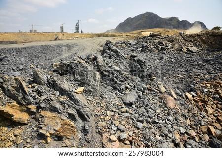 Shale stone. - stock photo