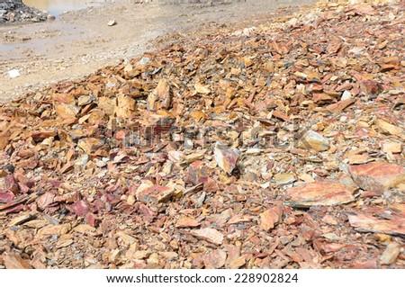 Shale stone, Clay stone  - stock photo