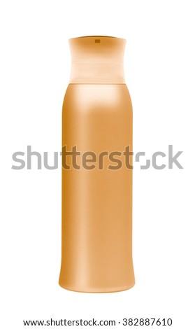 shampoo bottle. Isolated on white background - stock photo