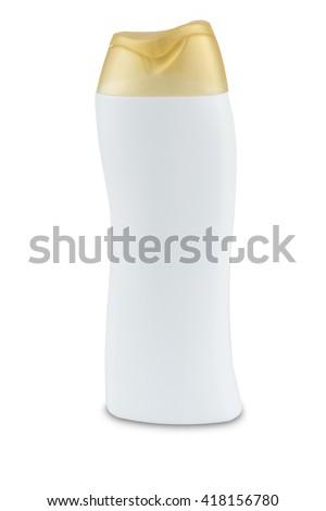Shampoo bottle isolated on white background - stock photo