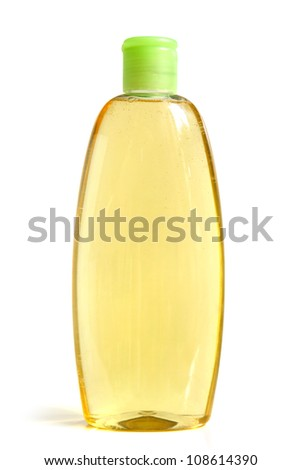 Shampoo bottle on a white background - stock photo