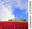 Shanghai bund landmark skyline - stock photo