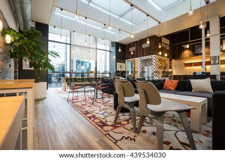 Shanghai,China   JUN.18,2016: Interior Of SOHO Office Lobby U0026