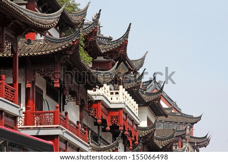 Shanghai City God Temple   - stock photo