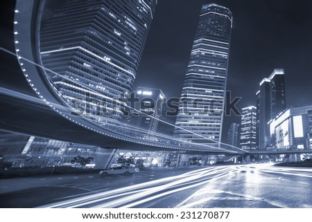 Shanghai commercial center at night