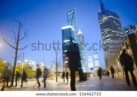 Shanghai Evening  - stock photo