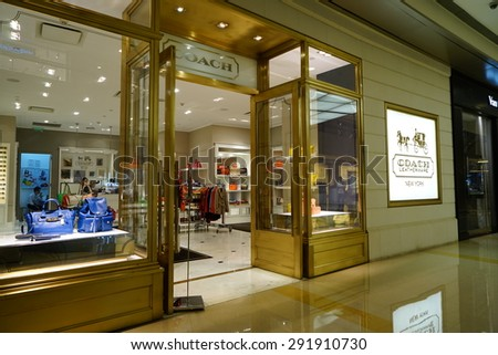 SHANGHAI-JUNE. 26, 2015. COACH STORE. China accounts for about 20 percent, or 180 billion renminbi ($27 billion1 ) of global luxury sales in 2015, according to new McKinsey research.