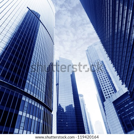Shanghai Lujiazui financial district skyscrapers - stock photo