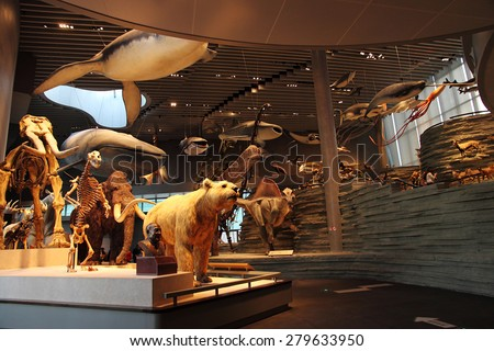 Shanghai Natural History Museum new wing, photo taken in 15th May, 2015 With a captivating collection of over 10,000 artefacts - including everything from dinosaurs to deep-sea monsters and mummies. - stock photo
