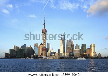 Shanghai skyline   - stock photo