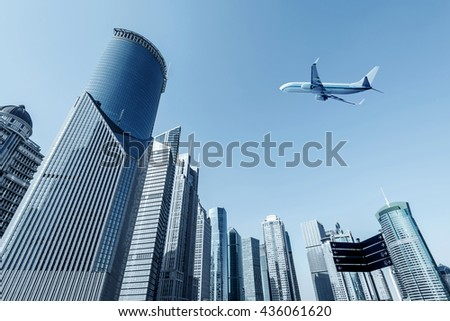 Shanghai urban landscape, the Huangpu River landmark - stock photo