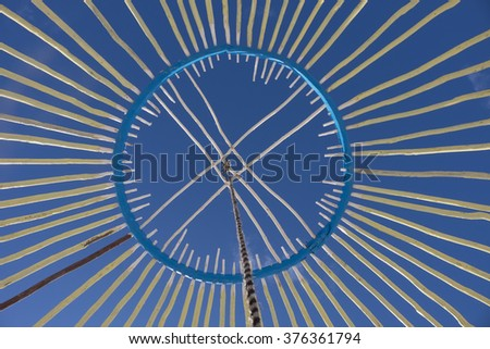 shangyrak is the main structure of the yurt - stock photo