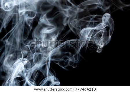 Shape of dragon, absrtact Art with Smoke, black background