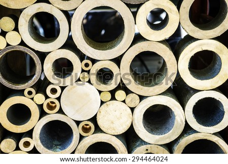 shape of metal material , wheel textures background and other metal details metal market, district 5, Ho Chi Minh city, Vietnam. - stock photo