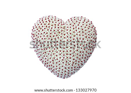 Shaped flower heart shape isolated on white