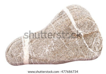 shaped foot stone isolated on white background