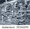 shaped pipes - stock photo