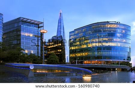 Shard skyscraper at Southwark, London. - stock photo