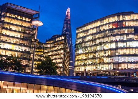 Shard skyscraper at Southwark, London.  - stock photo
