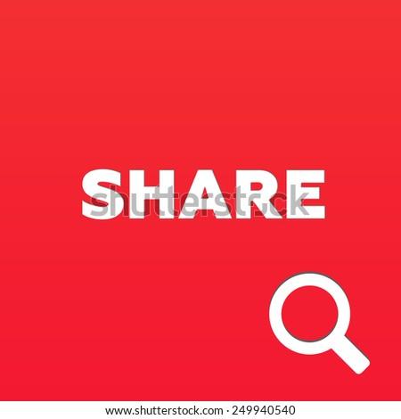 SHARE - stock photo