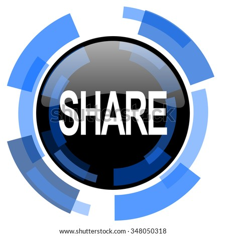 share black blue glossy web icon