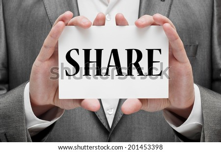 Share concept - stock photo