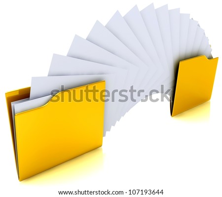 Share information - stock photo