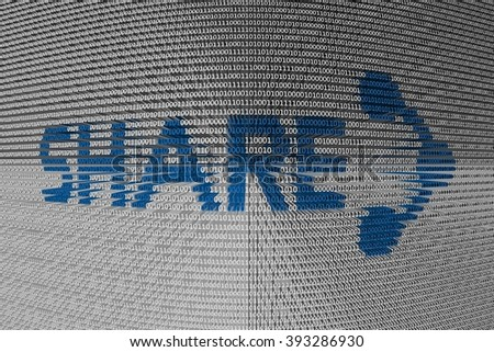 Share is presented in the form of binary code