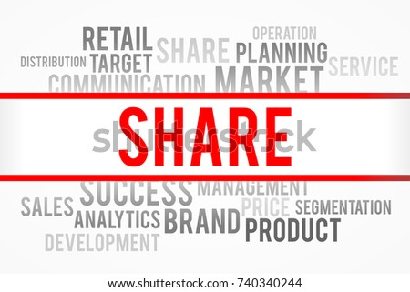 Share word with business concept