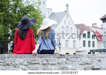 Sharing a moment in the medieval town