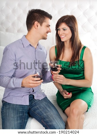 Sharing special moments - stock photo