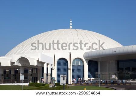 SHARJAH, UAE - DEC 17: Terminal at Sharjah International Airport. December 17, 2014 in Sharjah, United Arab Emirates - stock photo