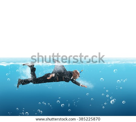 Shark businessman - stock photo