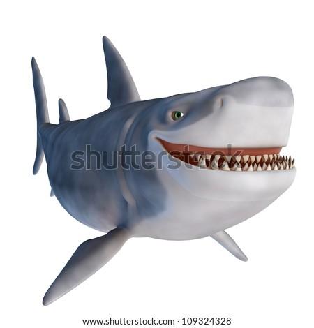 shark smile - stock photo