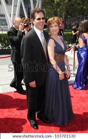 Sharon Lawrence and husband Tom  at the 61st Annual Primetime Creative Arts Emmy Awards. Nokia Theatre, Los Angeles, CA. 09-12-09 - stock photo
