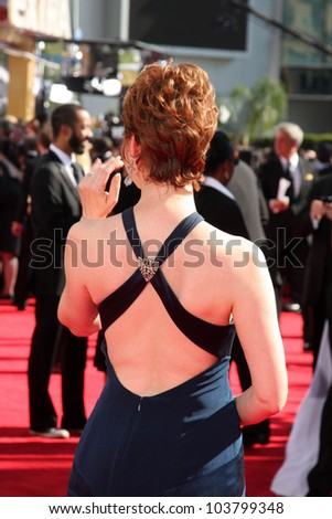 Sharon Lawrence  at the 61st Annual Primetime Emmy Awards. Nokia Theatre, Los Angeles, CA. 09-20-09 - stock photo