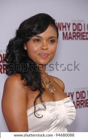 "Sharon Leal at the world premiere of her now movie ""Why Did I Get Married?"" at the Cinerama Dome, Hollywood. October 5, 2007  Los Angeles, CA Picture: Paul Smith / Featureflash"