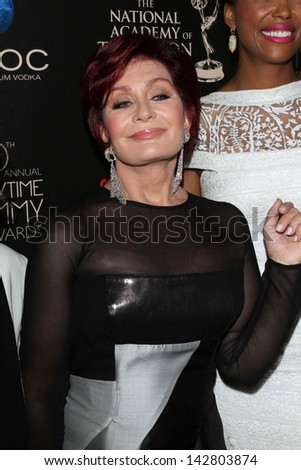 Sharon Osbourne at the 40th Annual Daytime Emmy Awards, Beverly Hilton Hotel, Beverly Hills, CA 06-16-13 - stock photo