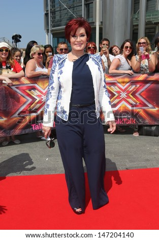 Sharon Osbourne at The X Factor London auditions held at Wembley arena, London. 18/07/2013 - stock photo
