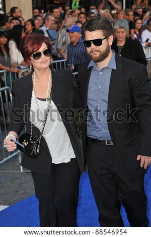 "Sharon Osbourne & son Jack Osbourne at the world premiere of ""Gnomeo & Juliet"" at the El Capitan Theatre, Hollywood. January 23, 2011  Los Angeles, CA Picture: Paul Smith / Featureflash"