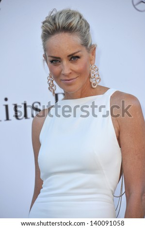 Sharon Stone at amfAR's 20th Cinema Against AIDS Gala at the Hotel du Cap d'Antibes, France May 23, 2013  Antibes, France - stock photo