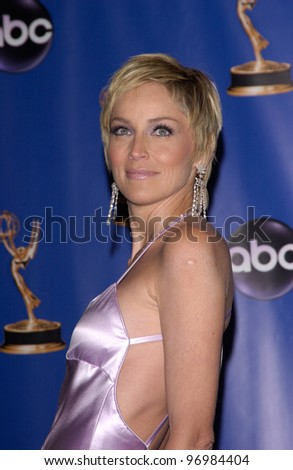 SHARON STONE at the 56th Annual primetime EMMY Awards at the Shrine Auditorium, Los Angeles. September 19, 2004 - stock photo