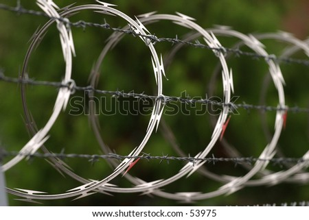 Sharp Loops - stock photo